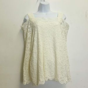chico's 2 off the shoulder lace top